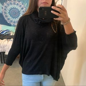 Free people open back Tuttle neck sweater